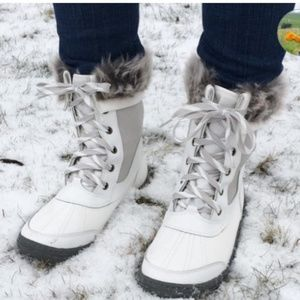 NEW! Merona Women's White Porsha Winter Snow Boots